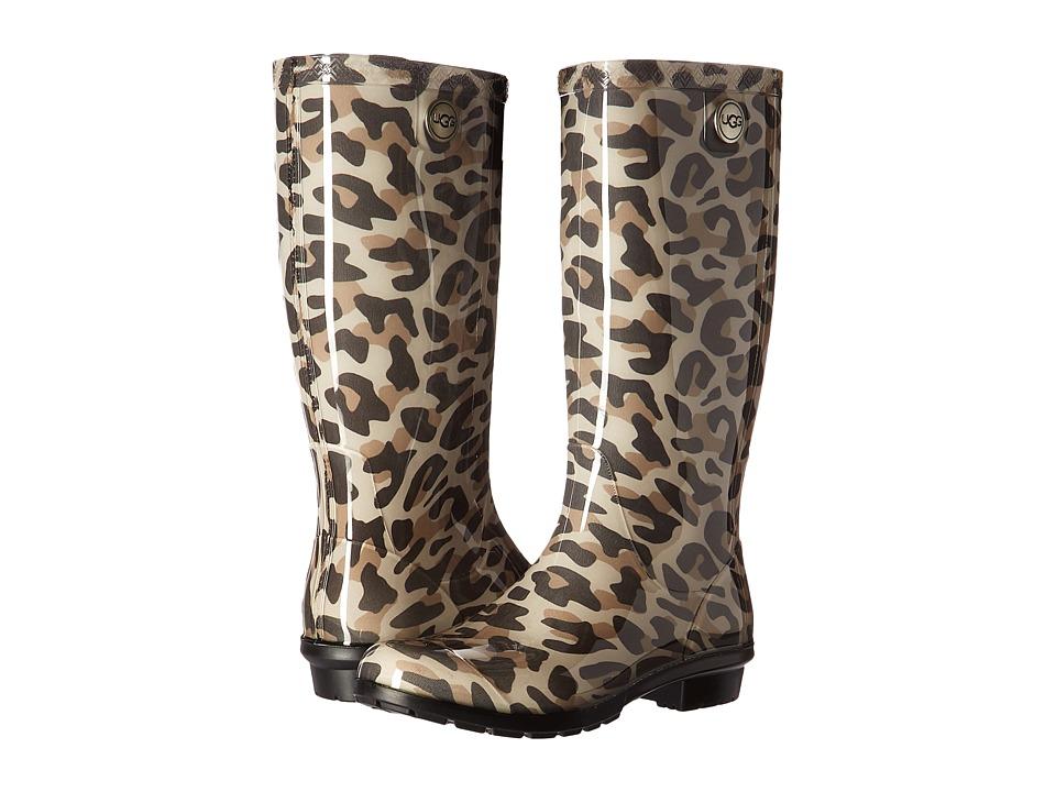 UGG - Shaye Leopard (Black) Women's Rain Boots
