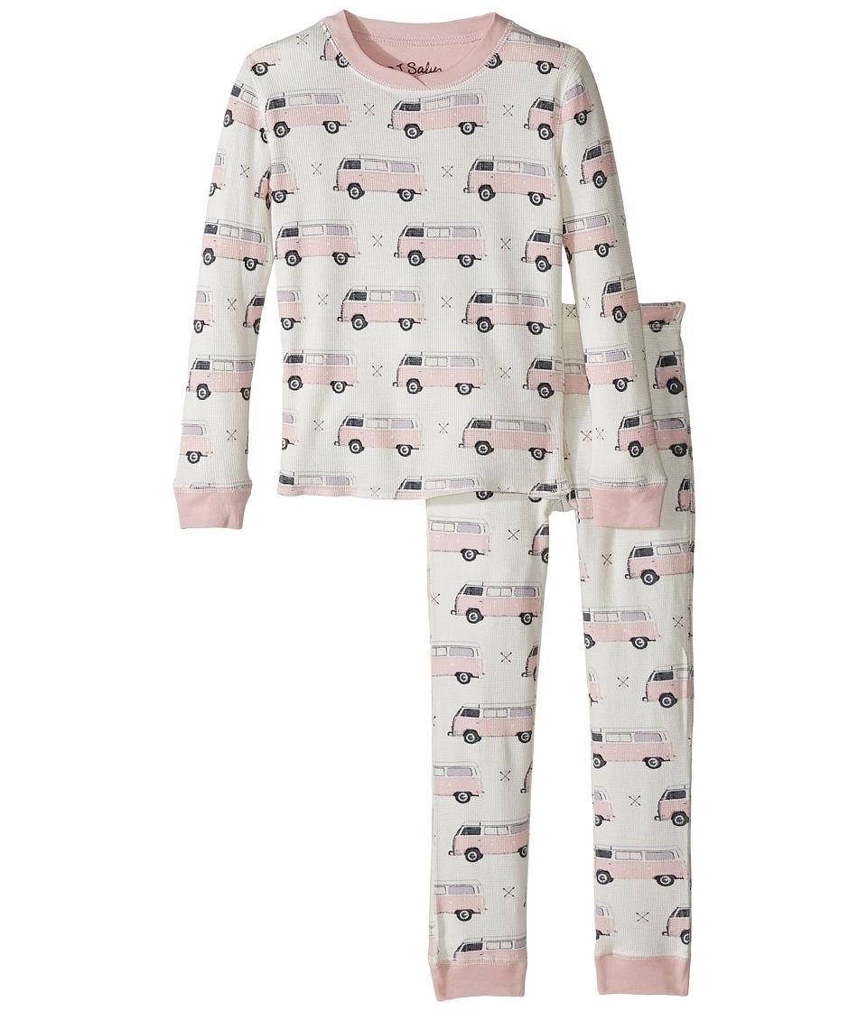 P.J. Salvage Kids - Buses Jammie Set (Toddler/Little Kids/Big Kids) (Natural) Girl's Pajama Sets