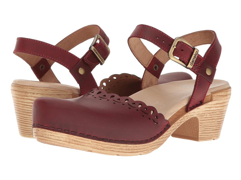 Dansko Marta (Red Oiled) High Heels