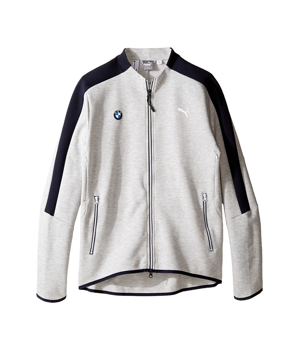 PUMA - BMW MSP T7 Sweat Jacket (Light Gray Heather) Men's Coat