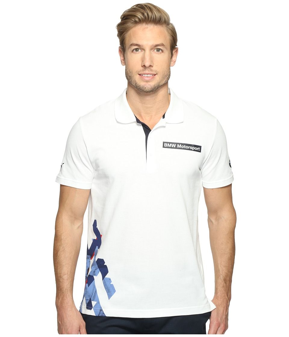 PUMA - BMW MSP Graphic Polo (PUMA White) Men's T Shirt