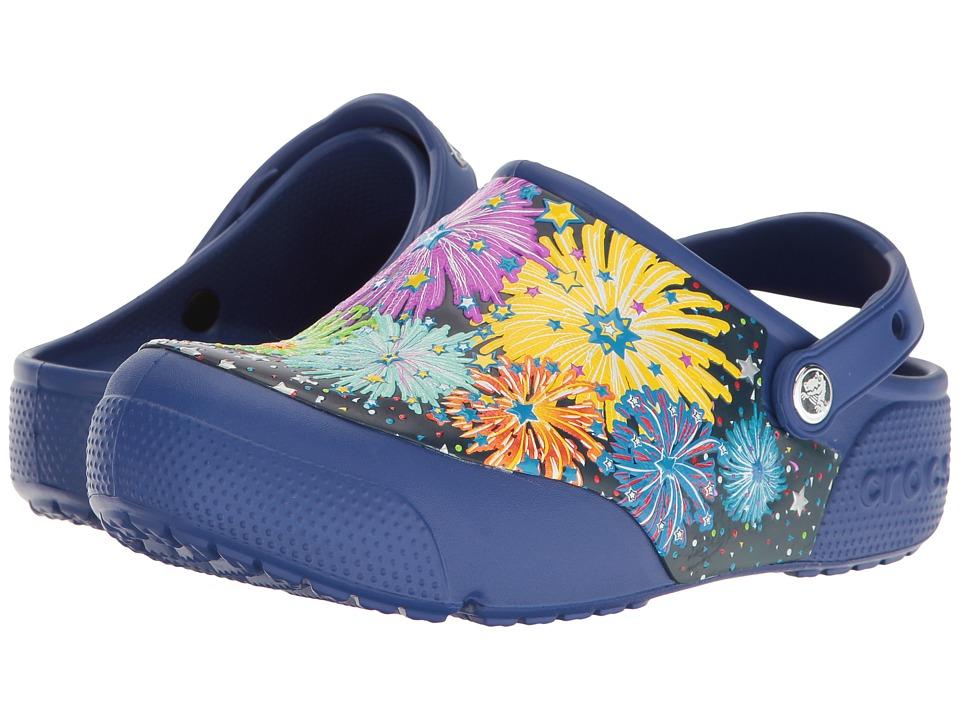 Crocs Kids - CrocsFunLab Lights Fireworks (Toddler/Little Kid) (Cerulean Blue) Kid's Shoes
