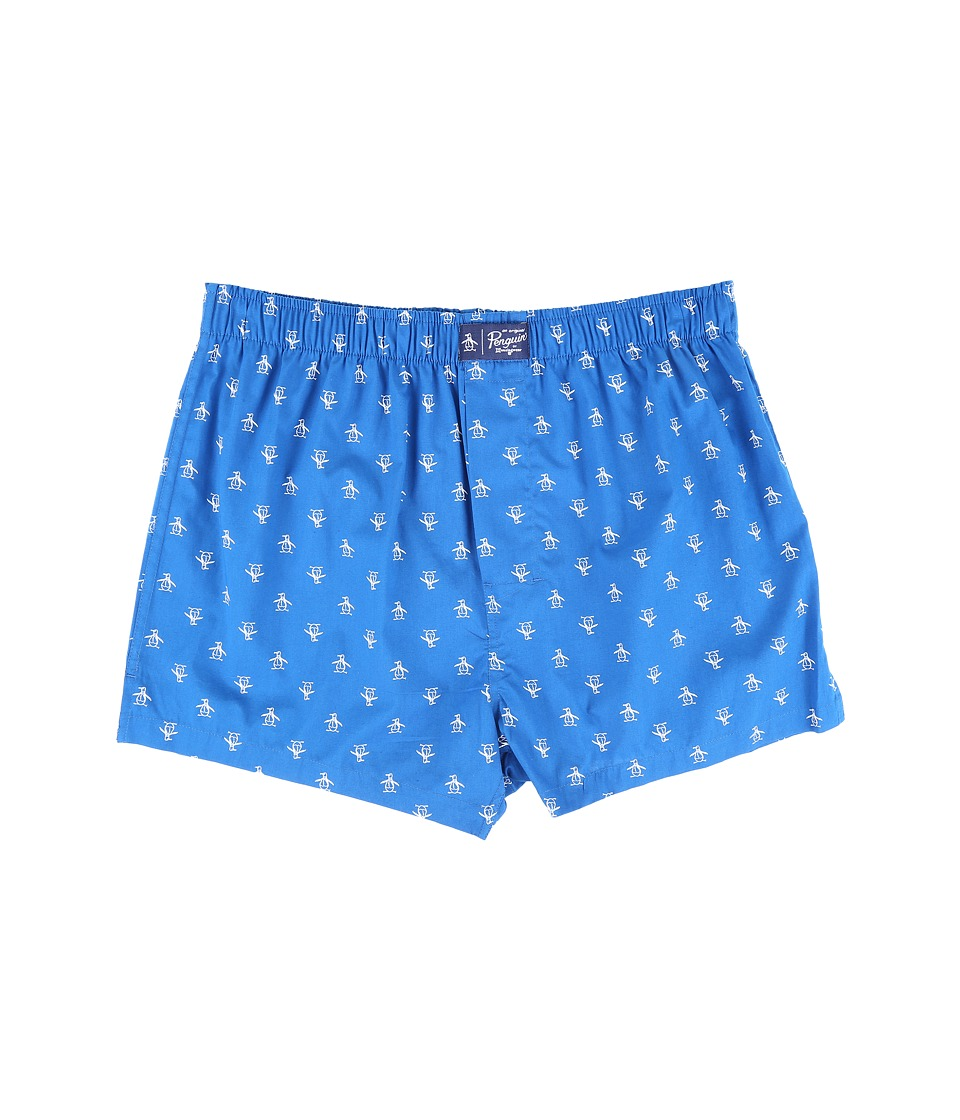Original Penguin - Woven Boxer (Classic Blue) Men's Underwear