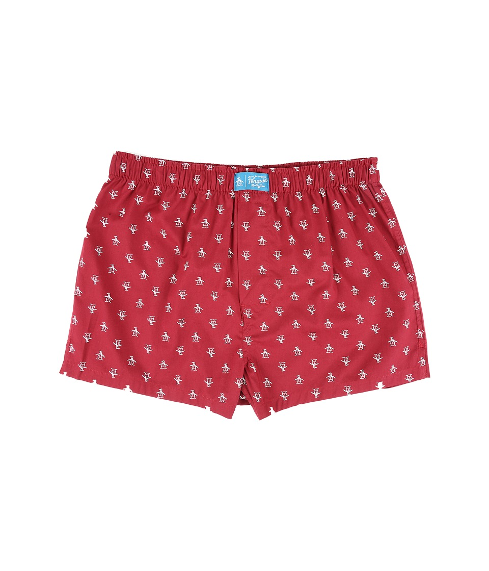 Original Penguin - Woven Boxer (Biking Red) Men's Underwear