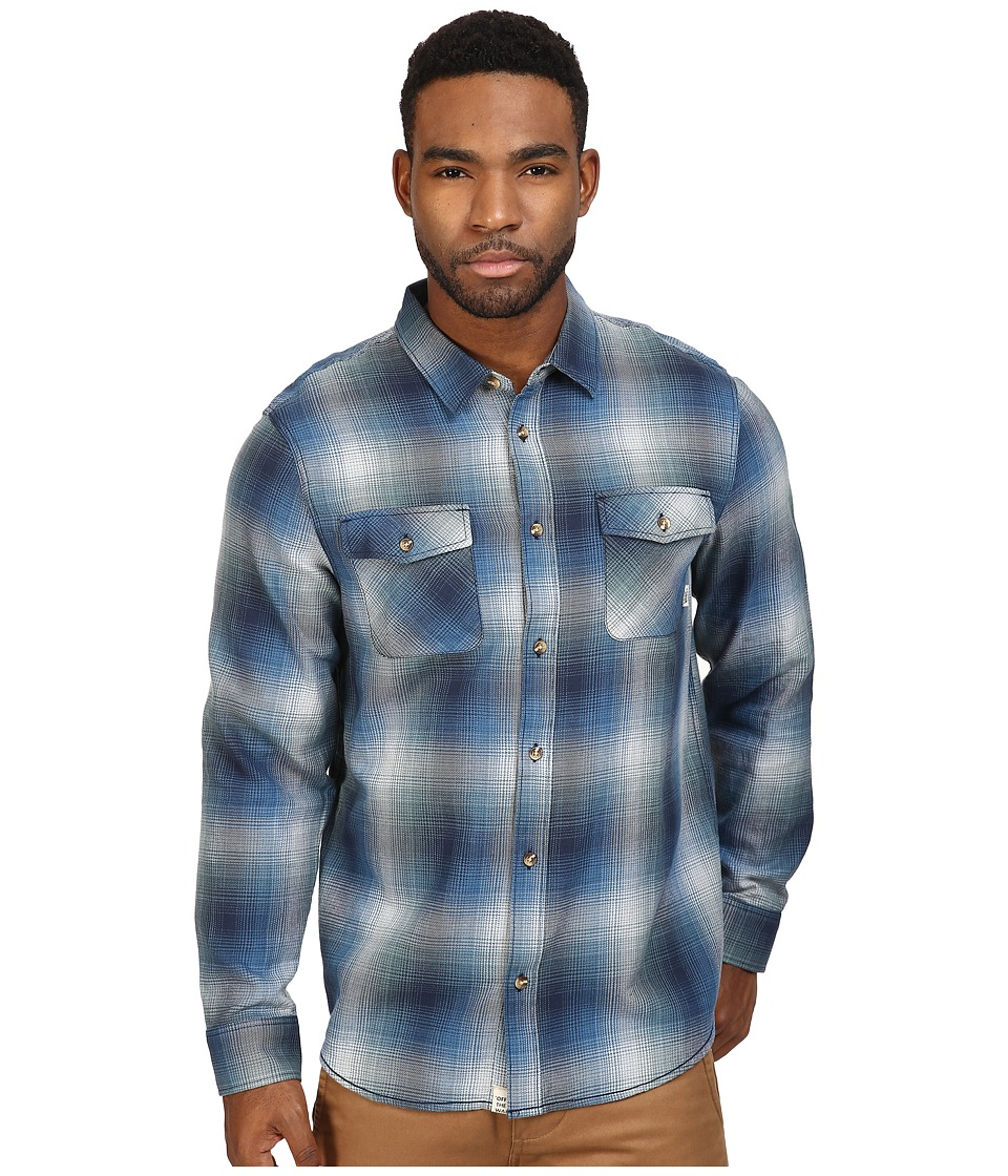 Vans - Conroy Flannel (Dress Blues/North Atlantic) Men's Clothing