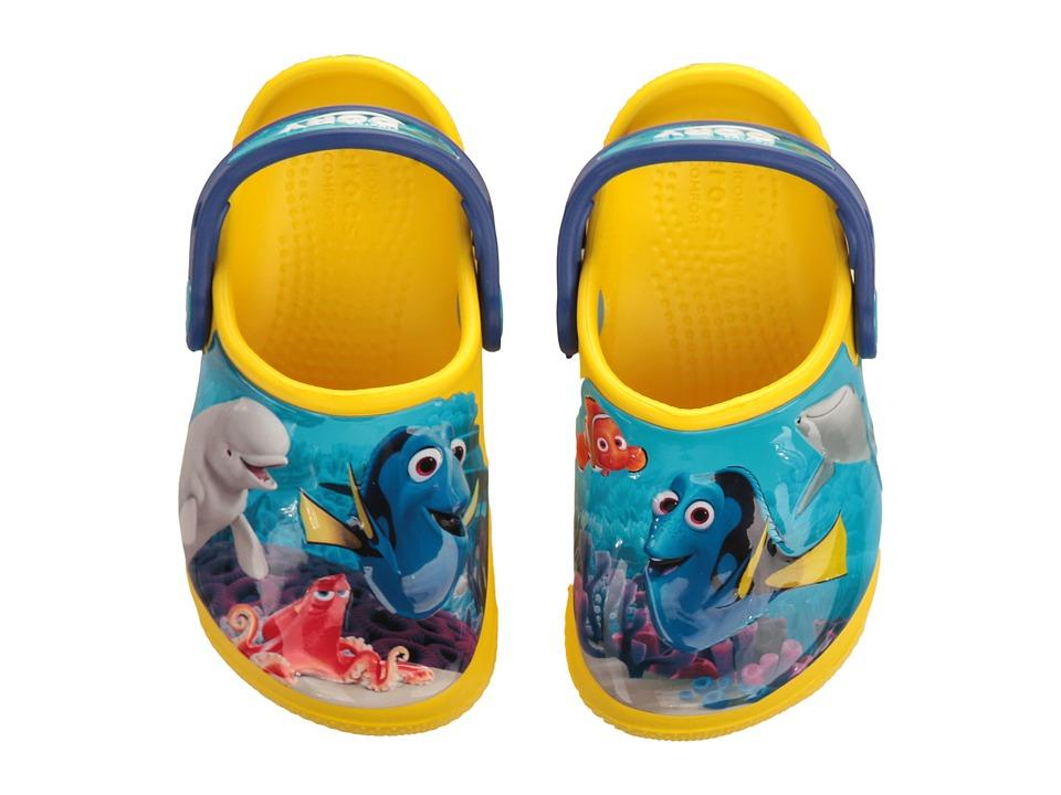 Crocs Kids - CrocsFunLab Dory (Toddler/Little Kid) (Lemon) Kid's Shoes