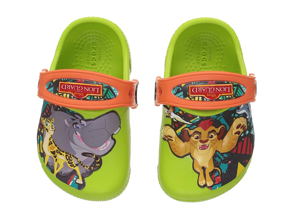 Crocs Kids - CrocsFunLab Lion Guard (Toddler/Little Kid) (Volt Green) Kid's Shoes
