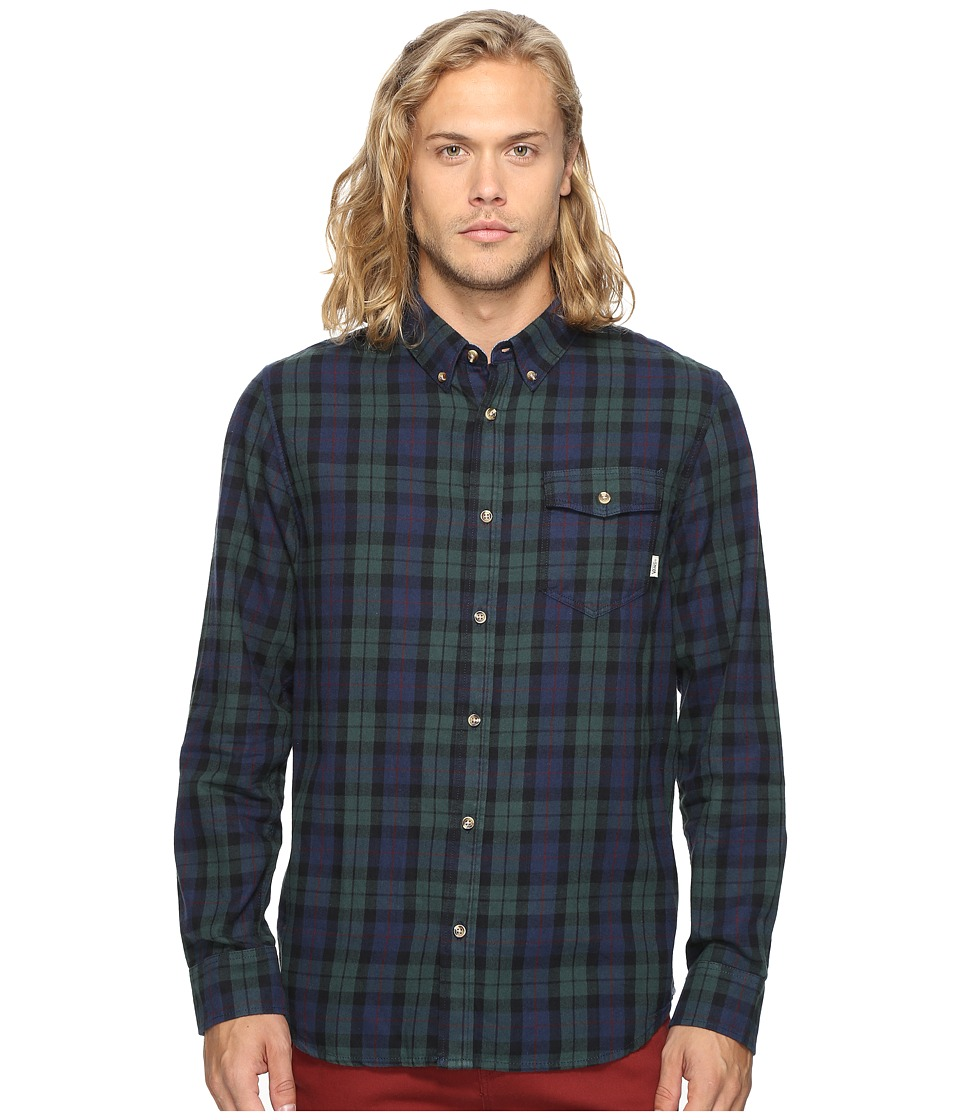 Vans - Lachlan Flannel (Green Gables/Dress Blues) Men's Clothing