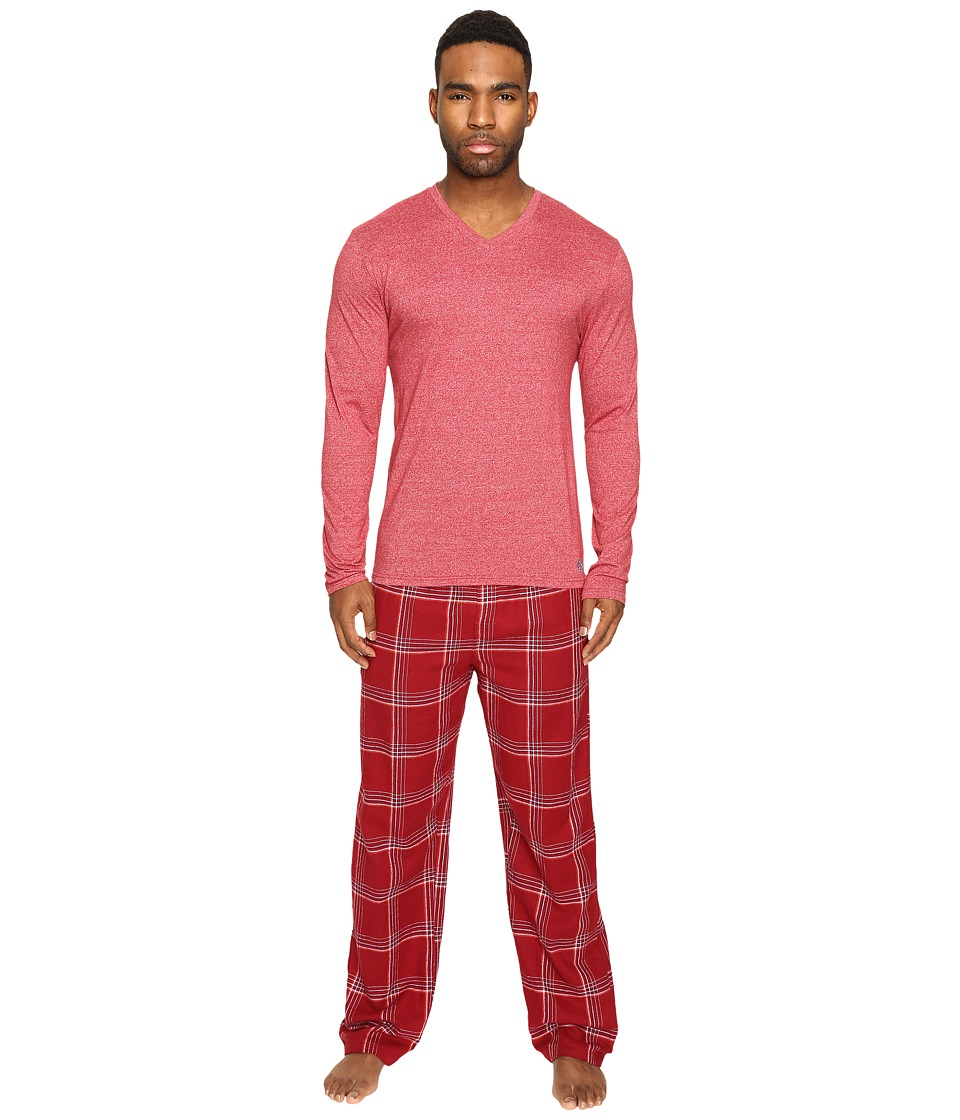 Original Penguin - Fleck Flannel PJ Set (Biking Red) Men's Pajama Sets