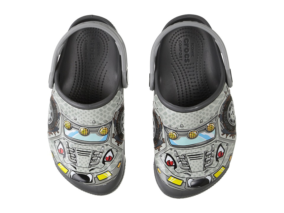 Crocs Kids - CrocsLights Clog (Toddler/Little Kid) (Monster Truck/Graphite) Boys Shoes