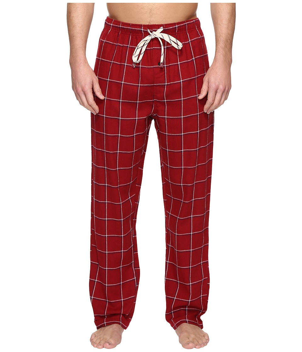 Original Penguin - Single Flannel Pants (Biking Red) Men's Pajama
