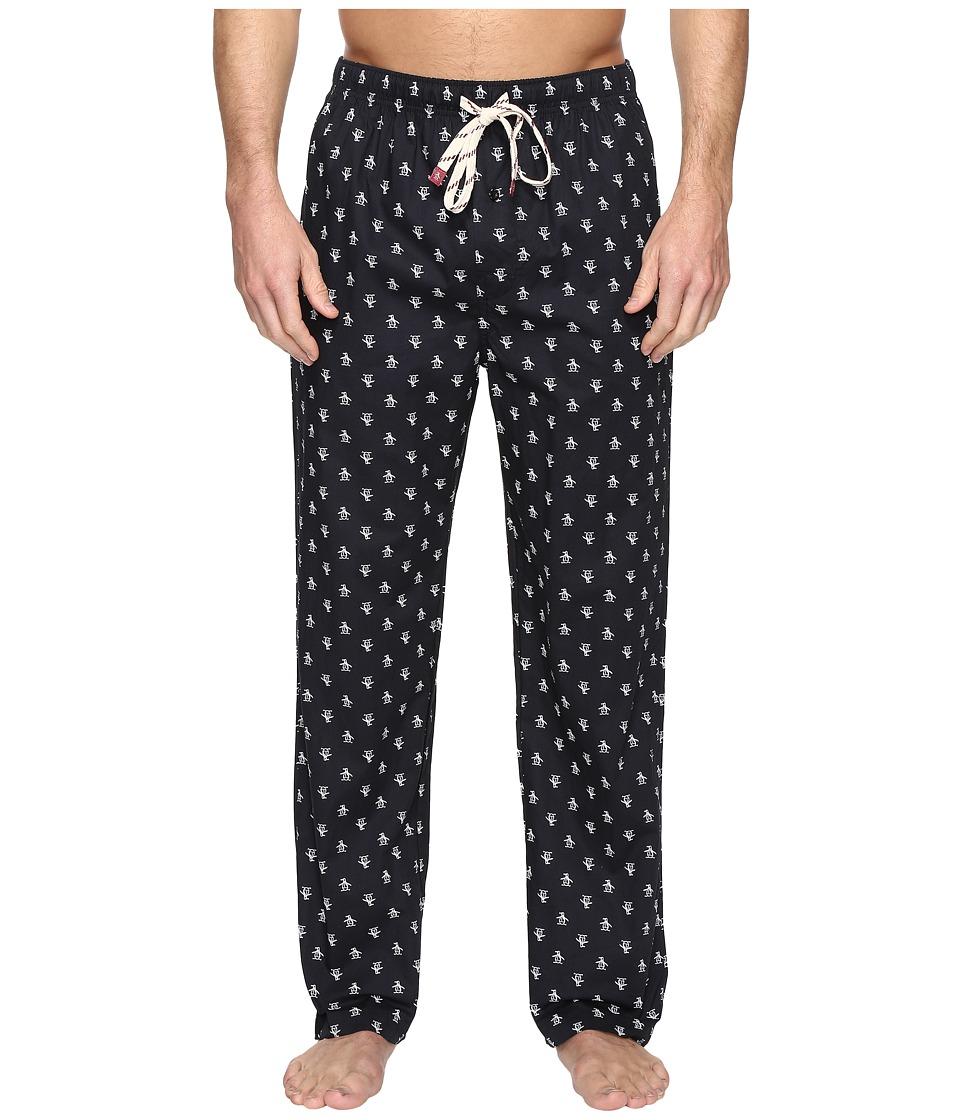 Original Penguin - Single Woven Pants (True Black) Men's Pajama