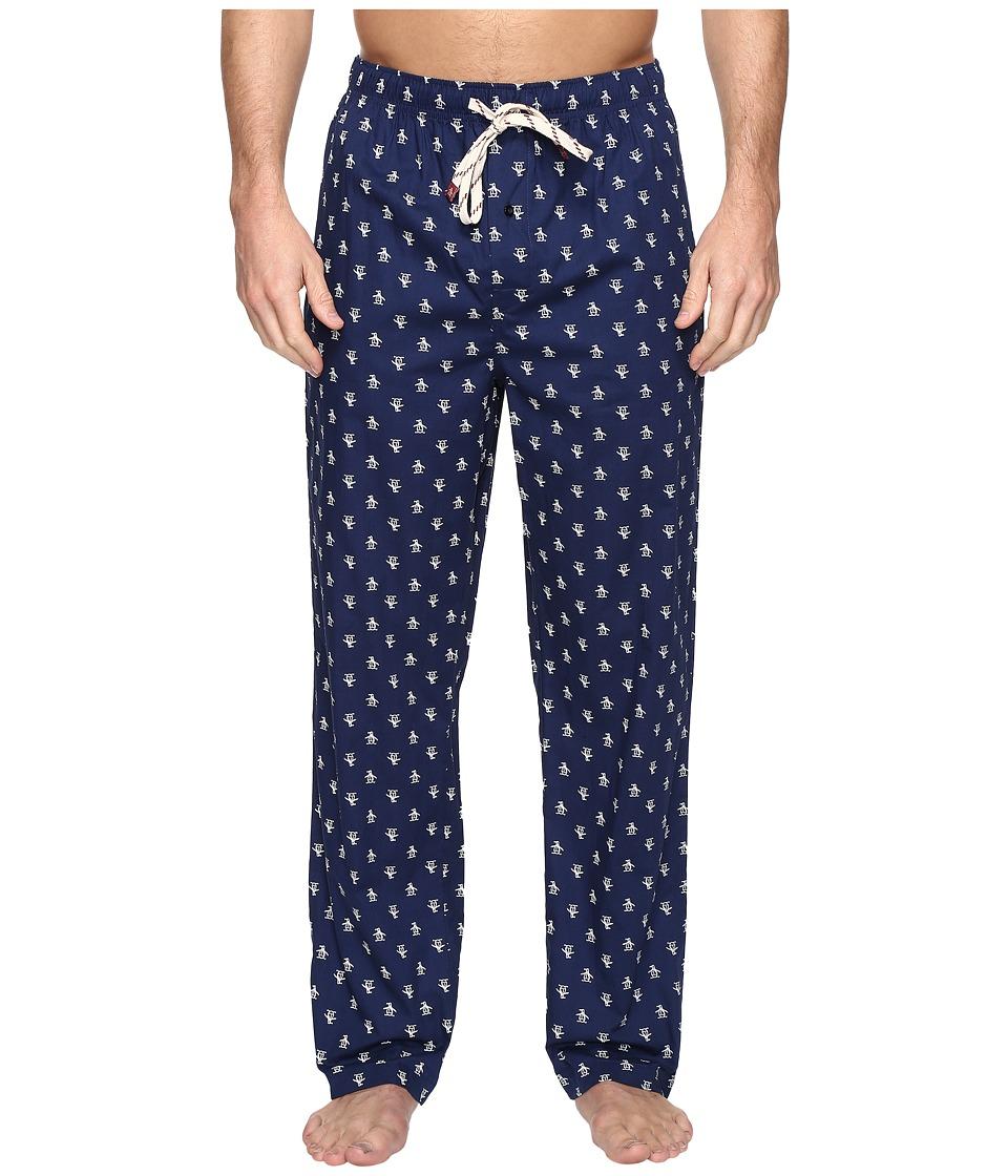 Original Penguin - Single Woven Pants (Medieval Blue) Men's Pajama