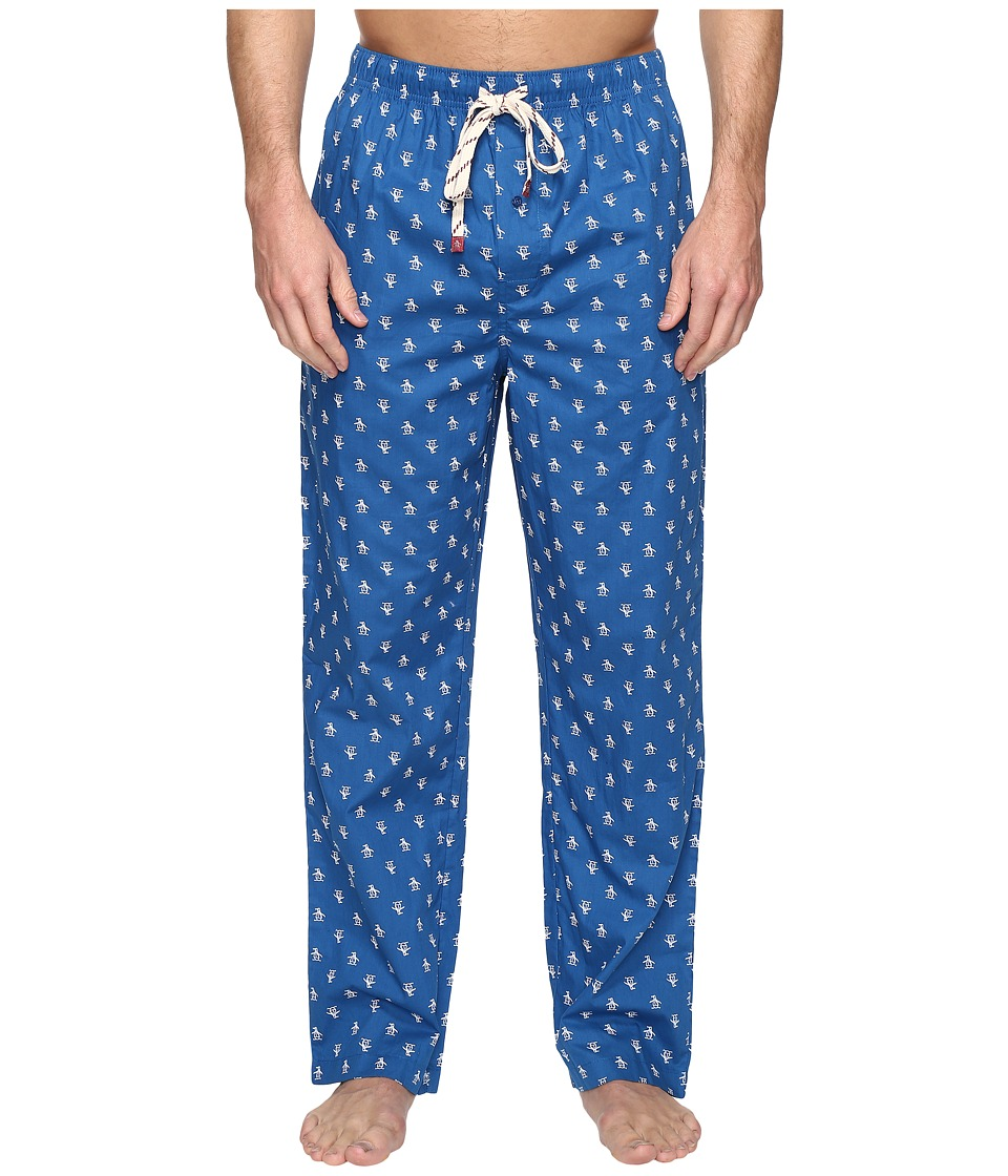 Original Penguin - Single Woven Pants (Classic Blue) Men's Pajama