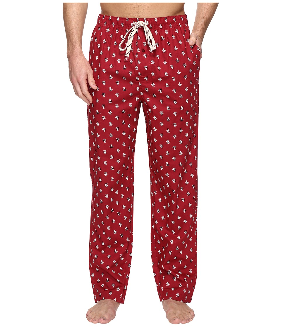 Original Penguin - Single Woven Pants (Biking Red) Men's Pajama