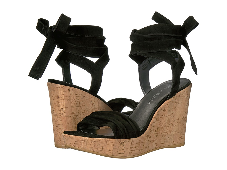 Stuart Weitzman - Backagain (Black Suede) Women's Shoes