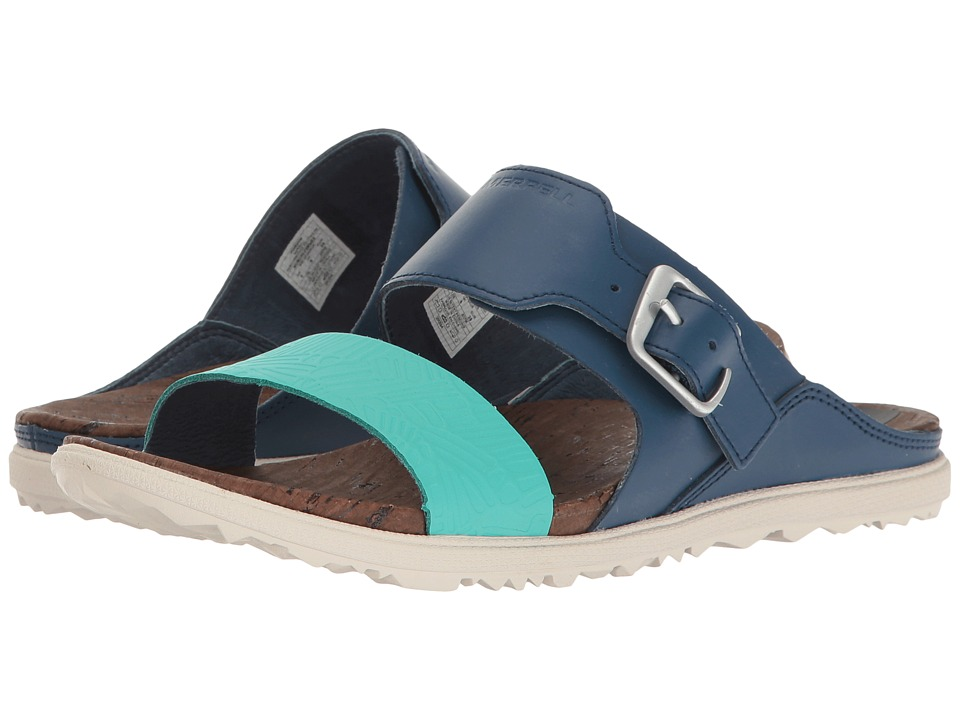 Merrell - Around Town Buckle Slide Print (Poseidon) Women's Sandals