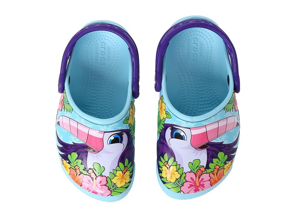 Crocs Kids - CrocsFunLab Lights (Toddler/Little Kid) (Toucan/Ice Blue) Girl's Shoes
