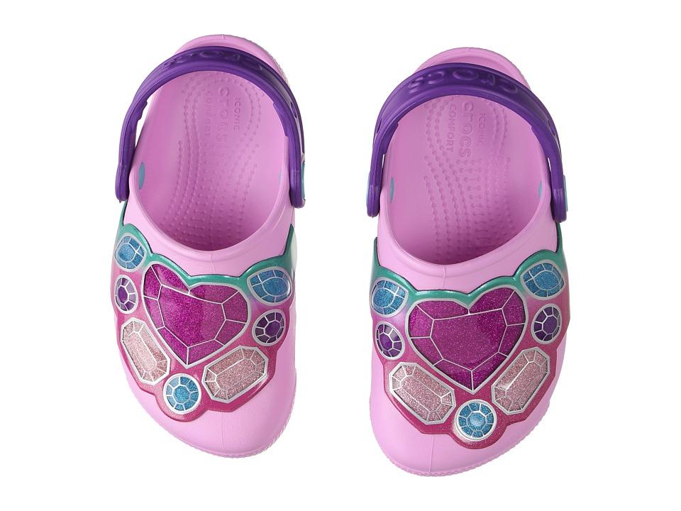 Crocs Kids CrocsLights Clog (Toddler/Little Kid) (Gems/Carnation) Boys Shoes