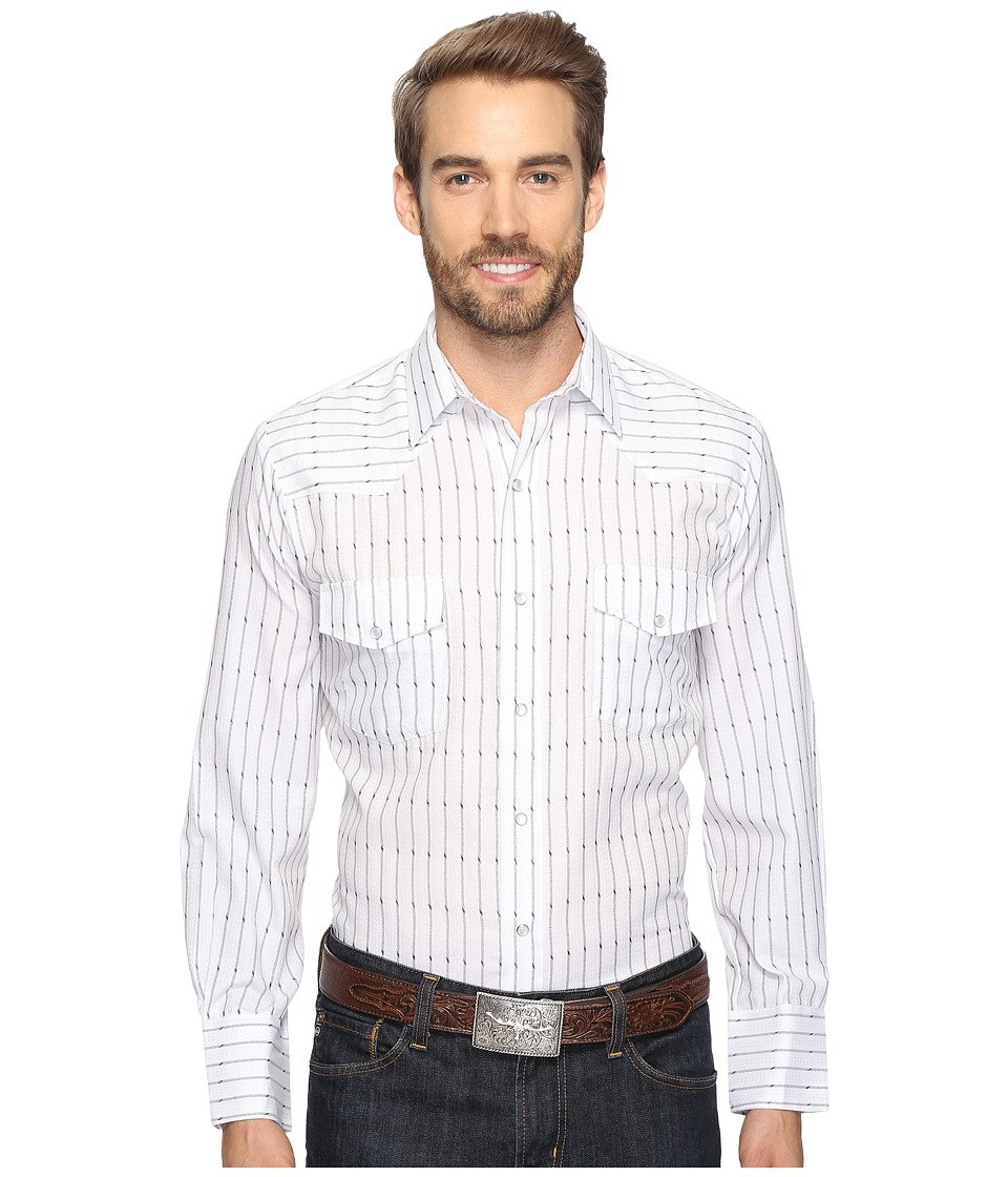 Roper - 0694 Black White Stripe (Black) Men's Clothing
