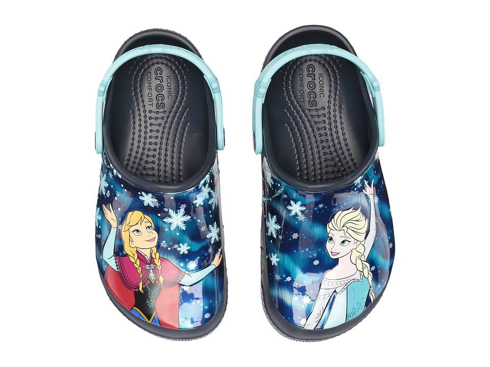 Crocs Kids - CrocsFunLab Frozen (Toddler/Little Kid) (Navy) Girl's Shoes