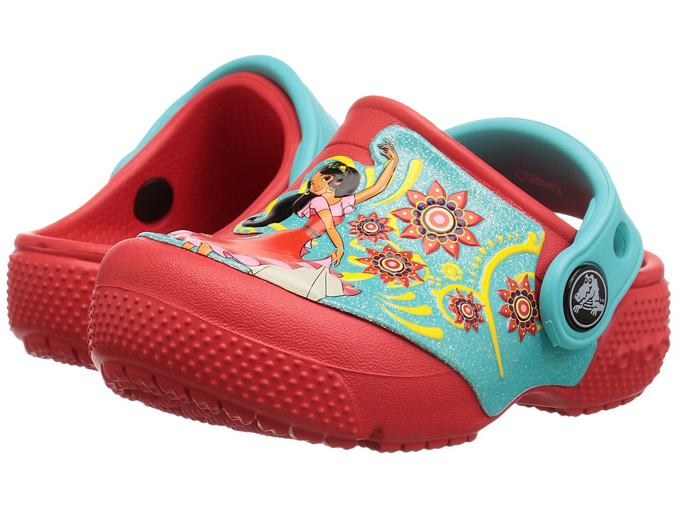 Crocs Kids - CrocsFunLab Elena of Avalor (Toddler/Little Kid) (Flame) Girl's Shoes