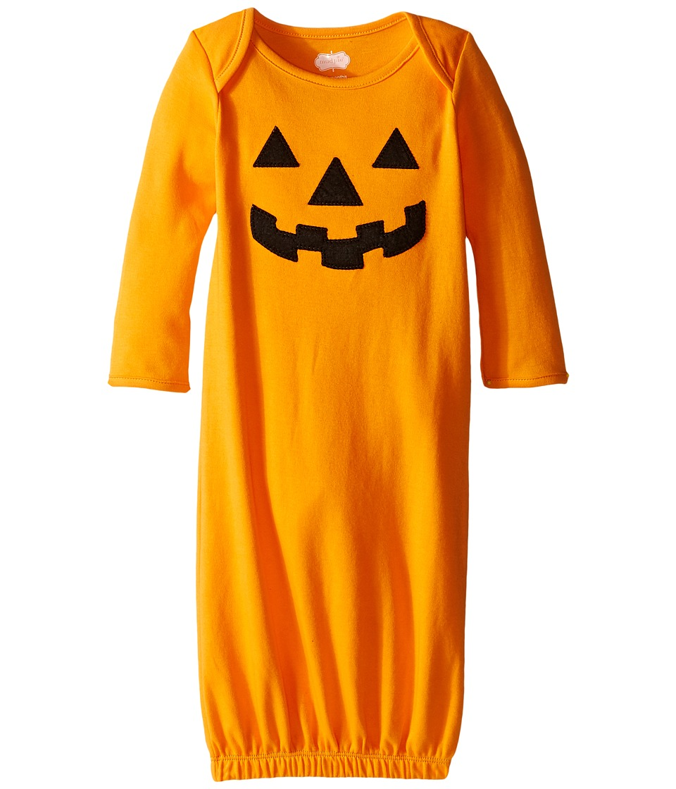 Mud Pie - Halloween Sleep Gowns Pumpkin (Infant) (Orange) Kid's Pajama