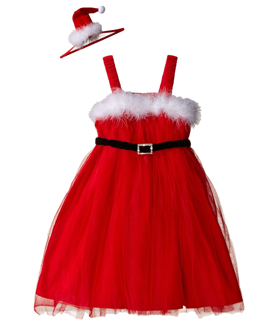 Mud Pie - Santa Dress Headband Set (Infant/Toddler) (Red) Girl's Active Sets