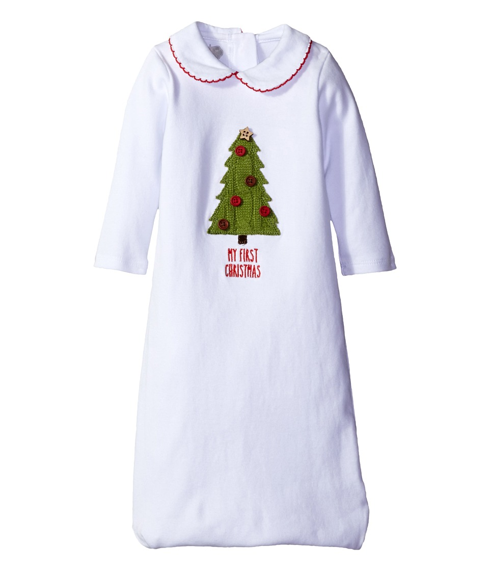 Mud Pie - My First Christmas Sleep Gown (Infant) (White) Girl's Pajama