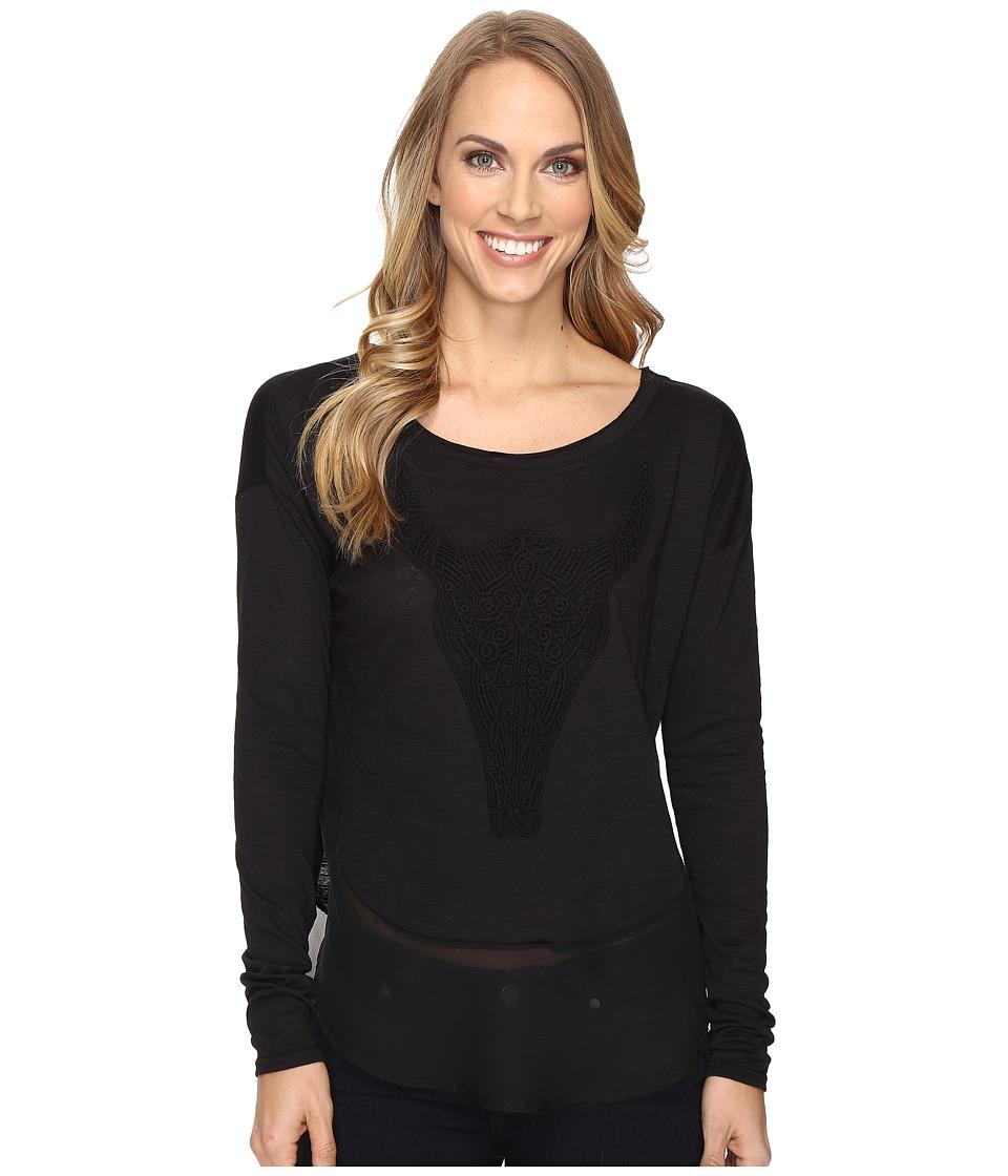 Roper - 0606 Jersey Boxy Tee (Black) Women's Clothing
