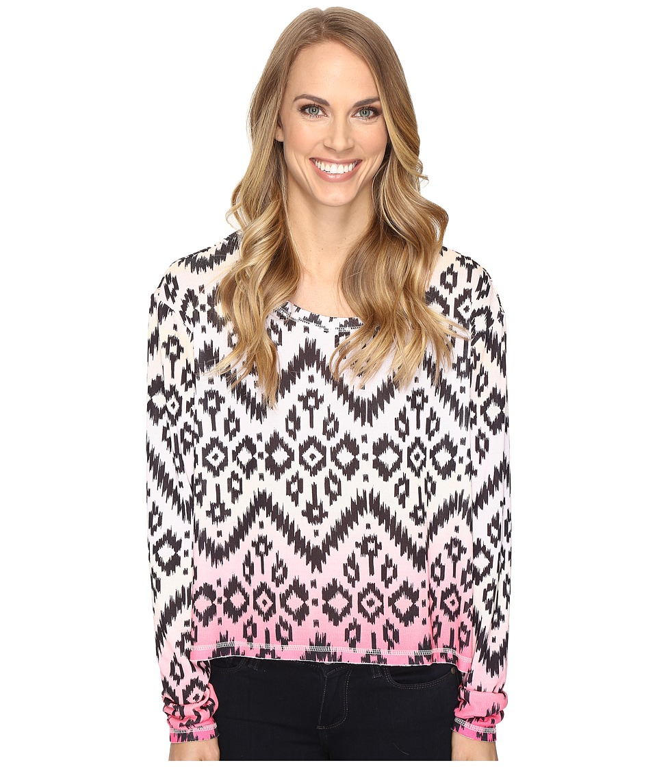 Roper - 0612 Sweater Jersey Crop Shirt (White) Women's Sweater