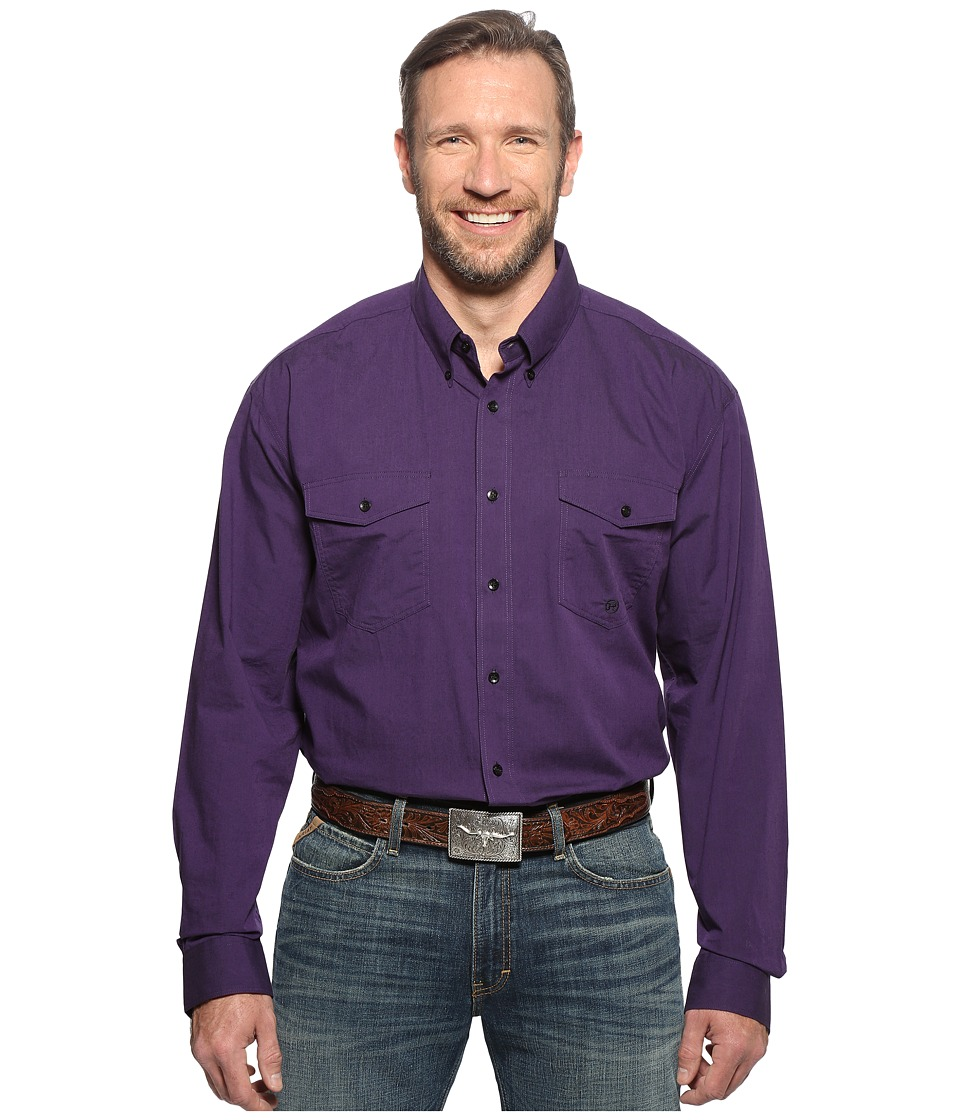 Roper - Big Tall 0564 Vice Roy Paisley Button (Purple) Men's Clothing