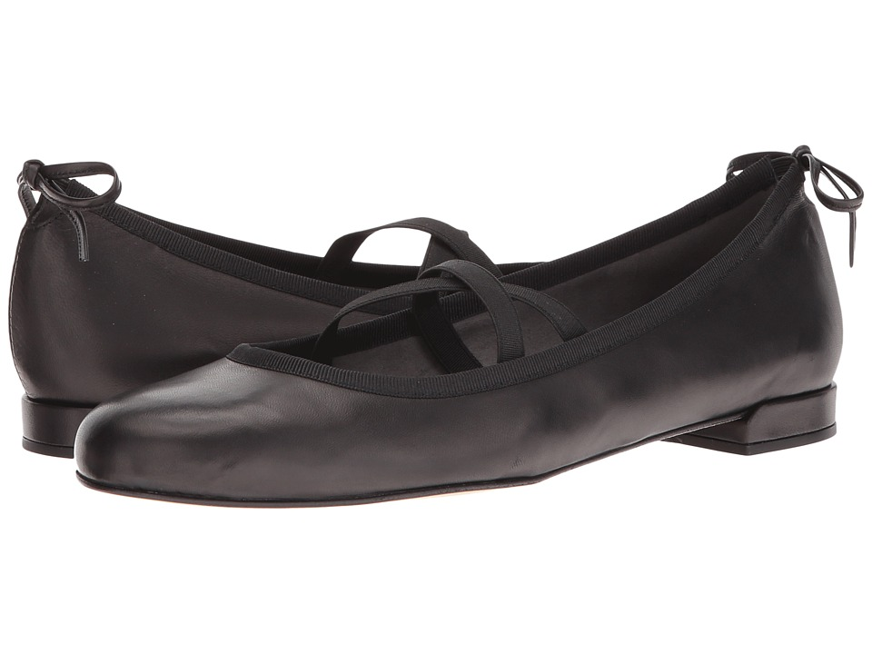Stuart Weitzman - Bolshoi (Black Nappa) Women's Dress Flat Shoes