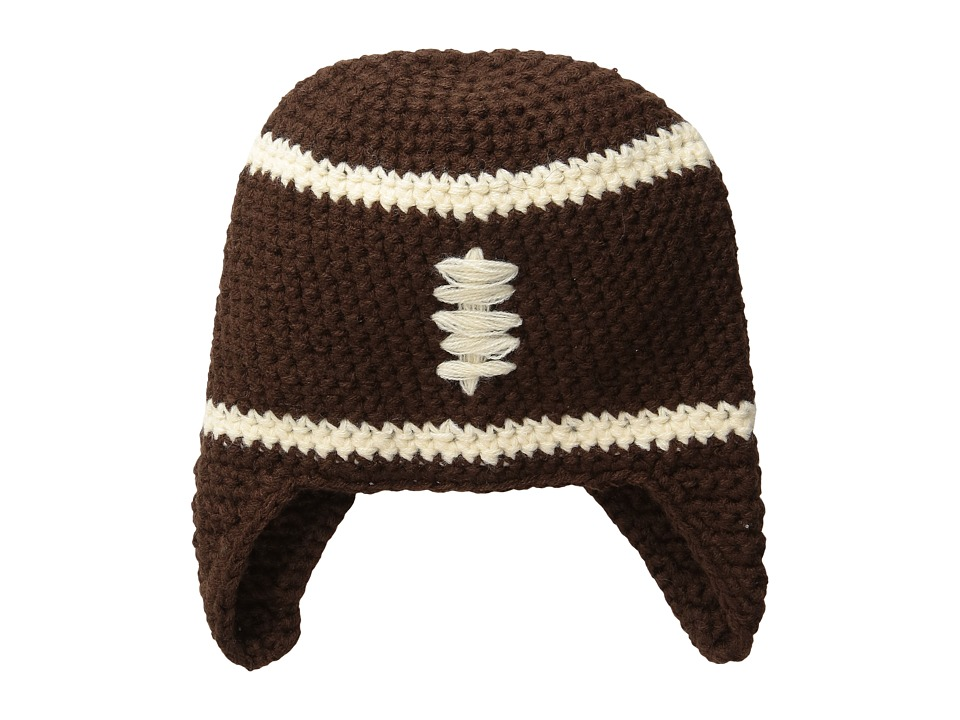 Mud Pie - Chunky Knit Football Hat (Infant) (Brown) Caps