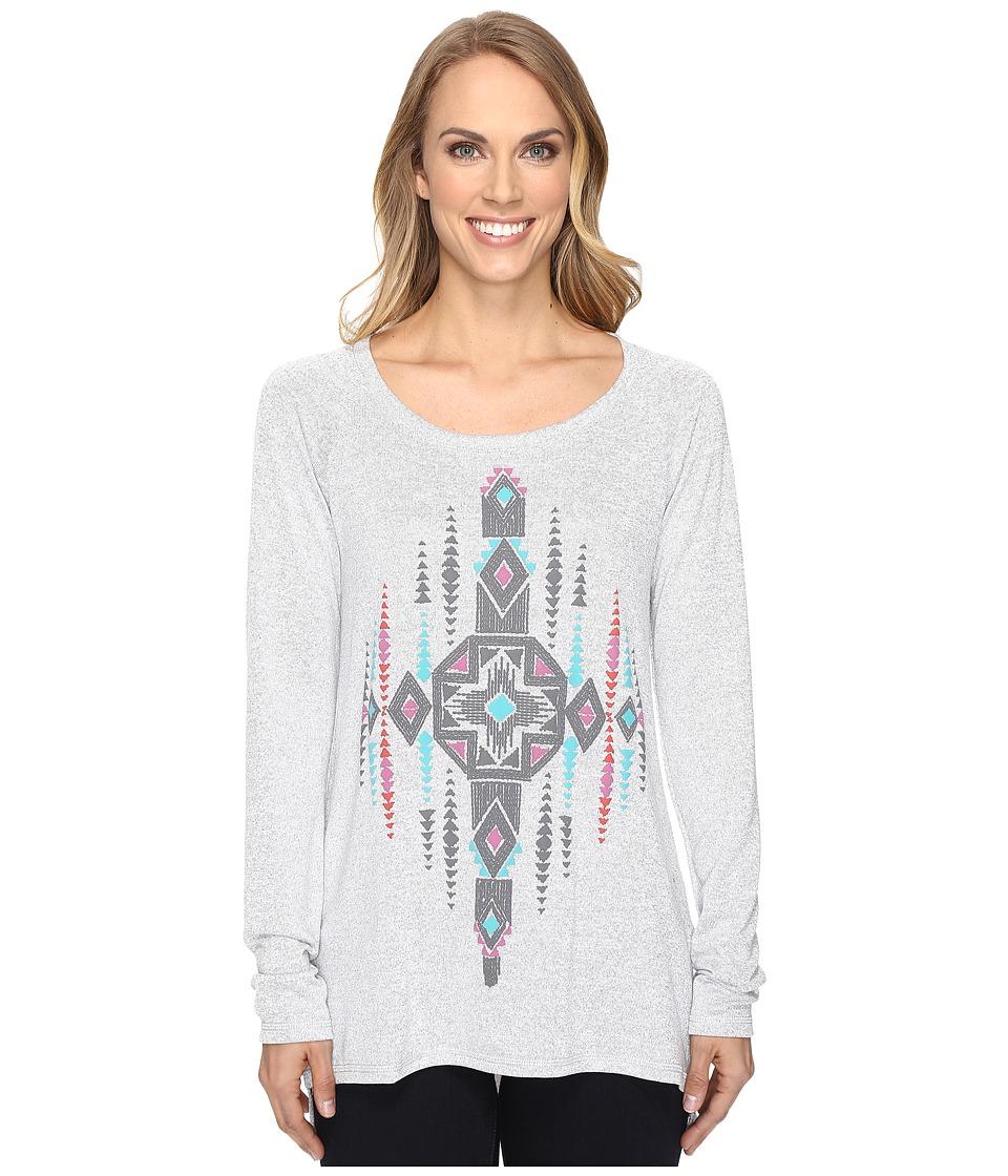 Roper - 0612 Sweater Jersey Hi-Lo Top (Grey) Women's Clothing