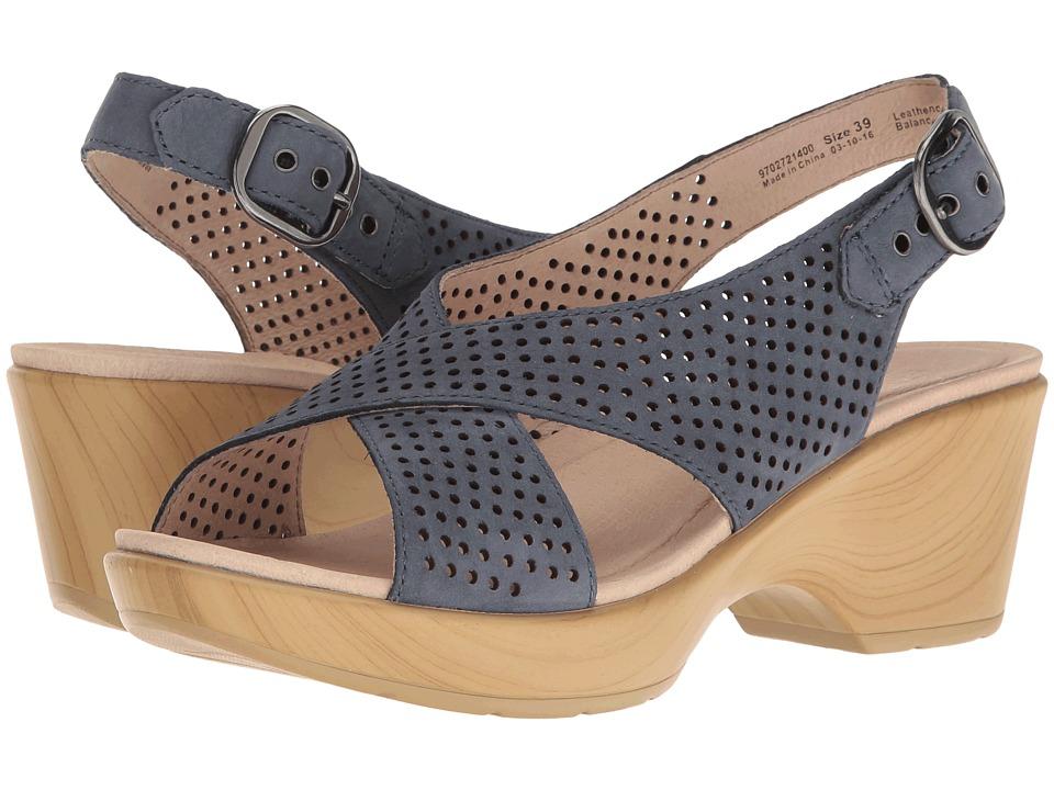 Dansko - Jacinda (Blue Nubuck) Women's Sling Back Shoes