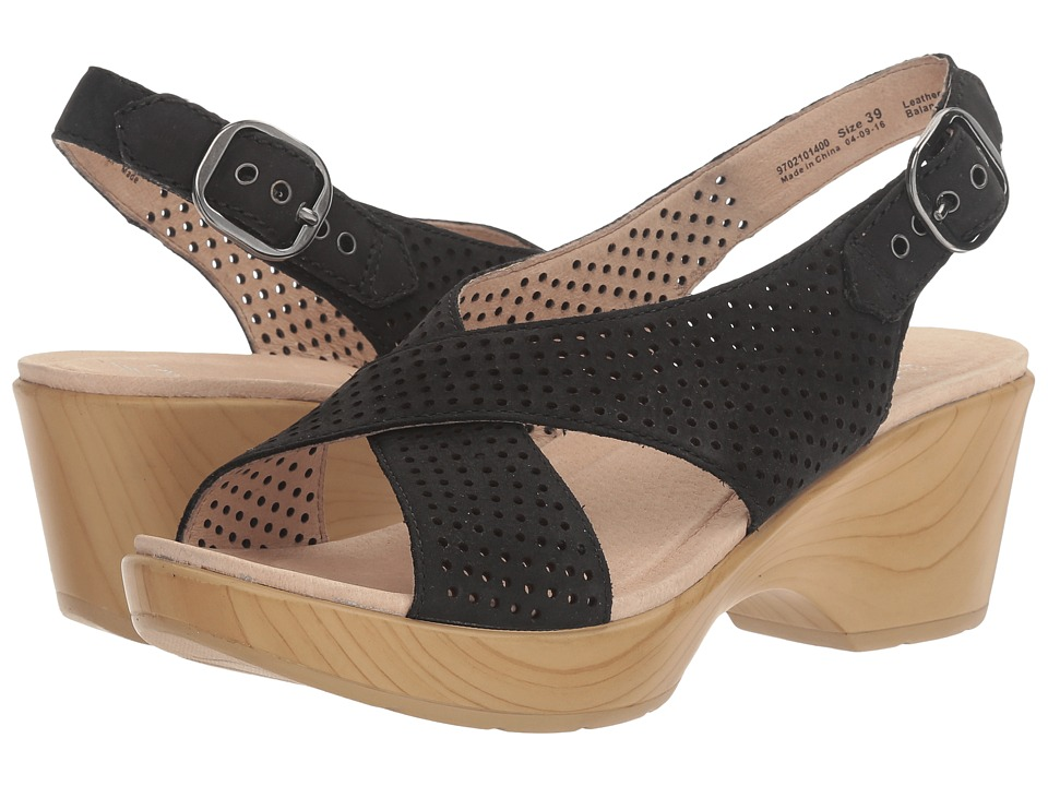Dansko - Jacinda (Black Nubuck) Women's Sling Back Shoes