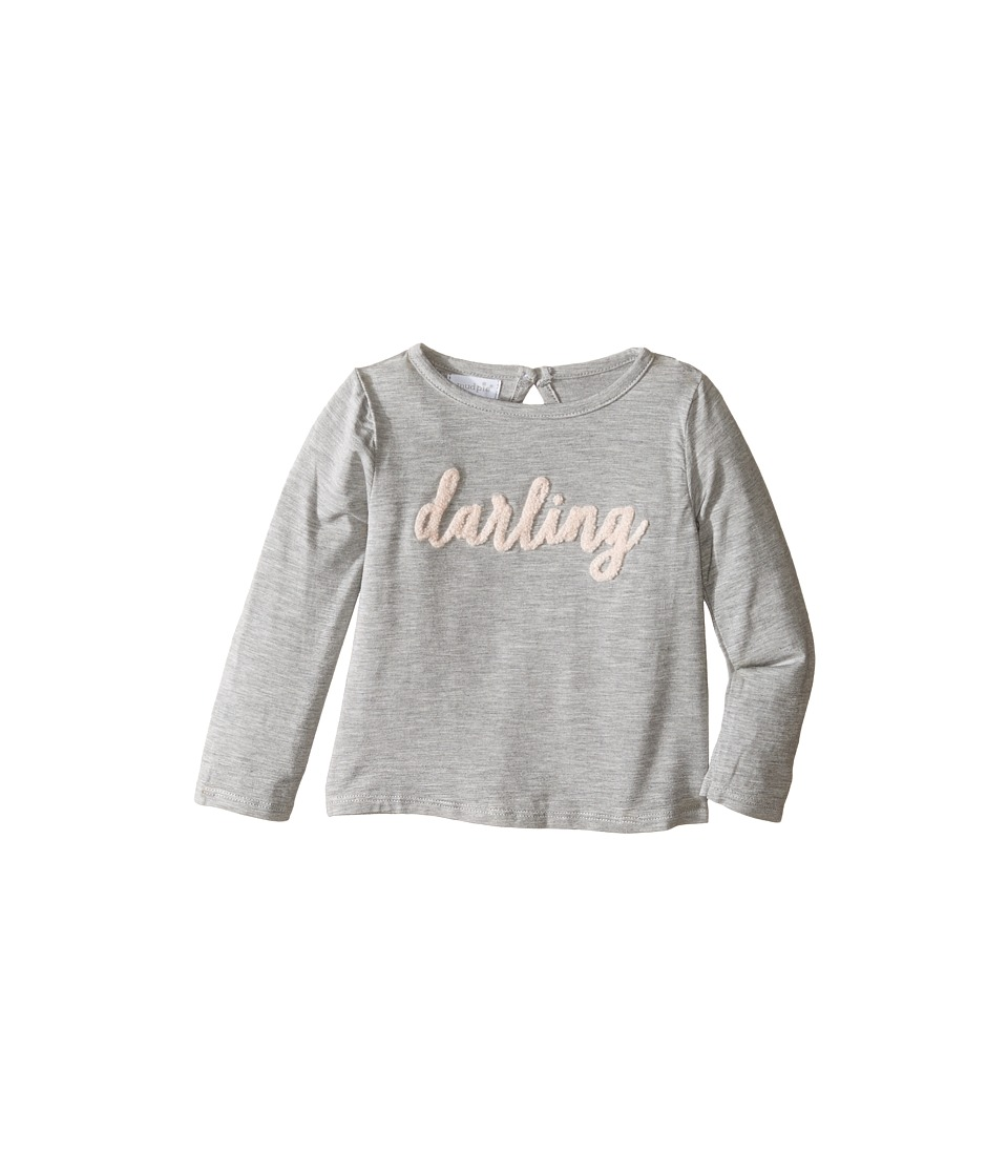Mud Pie - Boucle Yarn Shirts Darling (Infant/Toddler) (Grey) Girl's Clothing