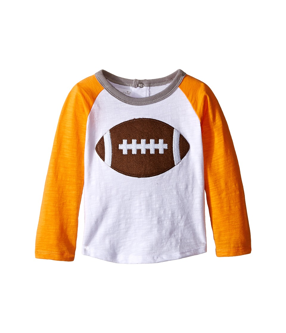 Mud Pie - Gameday Football T-Shirts (Infant/Toddler) (Orange/Grey) Boy's T Shirt