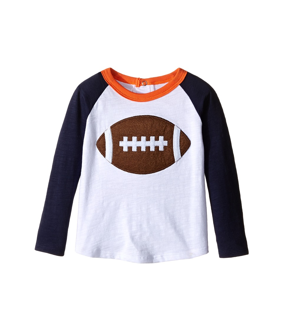 Mud Pie - Gameday Football T-Shirts (Infant/Toddler) (Navy/Orange) Boy's T Shirt