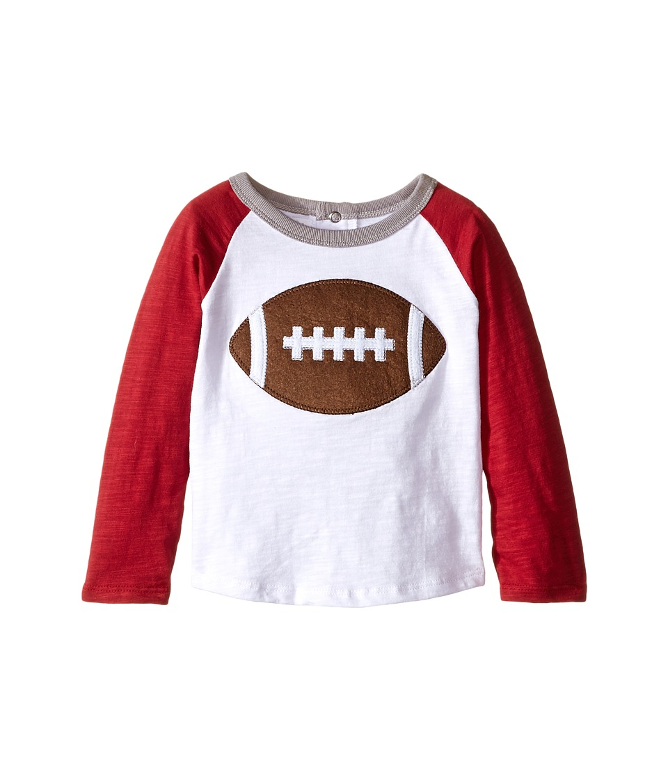 Mud Pie - Gameday Football T-Shirts (Infant/Toddler) (Burgundy/Grey) Boy's T Shirt