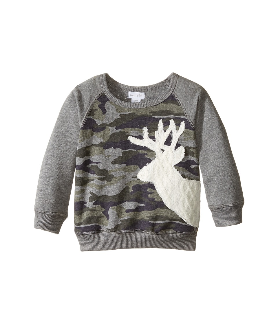 Mud Pie - Camo Sweatshirt (Infant/Toddler) (Grey) Boy's Sweatshirt
