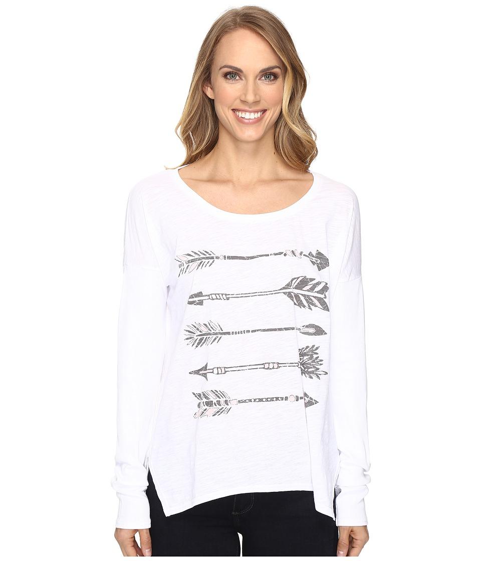Roper - 0606 Slub Jersey Slouchy Tee (White) Women's T Shirt