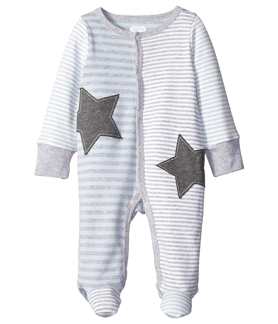 Mud Pie - Star Sleeper (Infant) (Grey) Boy's Jumpsuit & Rompers One Piece