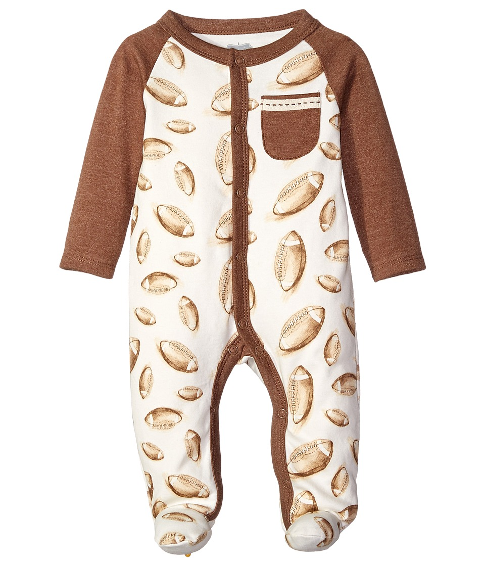 Mud Pie - Football Sleeper (Infant) (Brown) Boy's Jumpsuit & Rompers One Piece