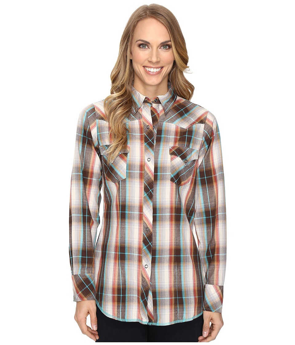 Roper - 0627 Russet Plaid (Brown) Women's Clothing
