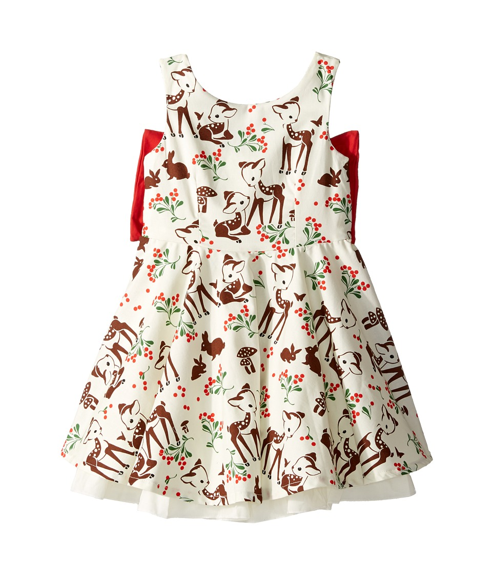 fiveloaves twofish - Little Party Little Deer Dress (Toddler/Little Kids/Big Kids) (Red) Girl's Dress
