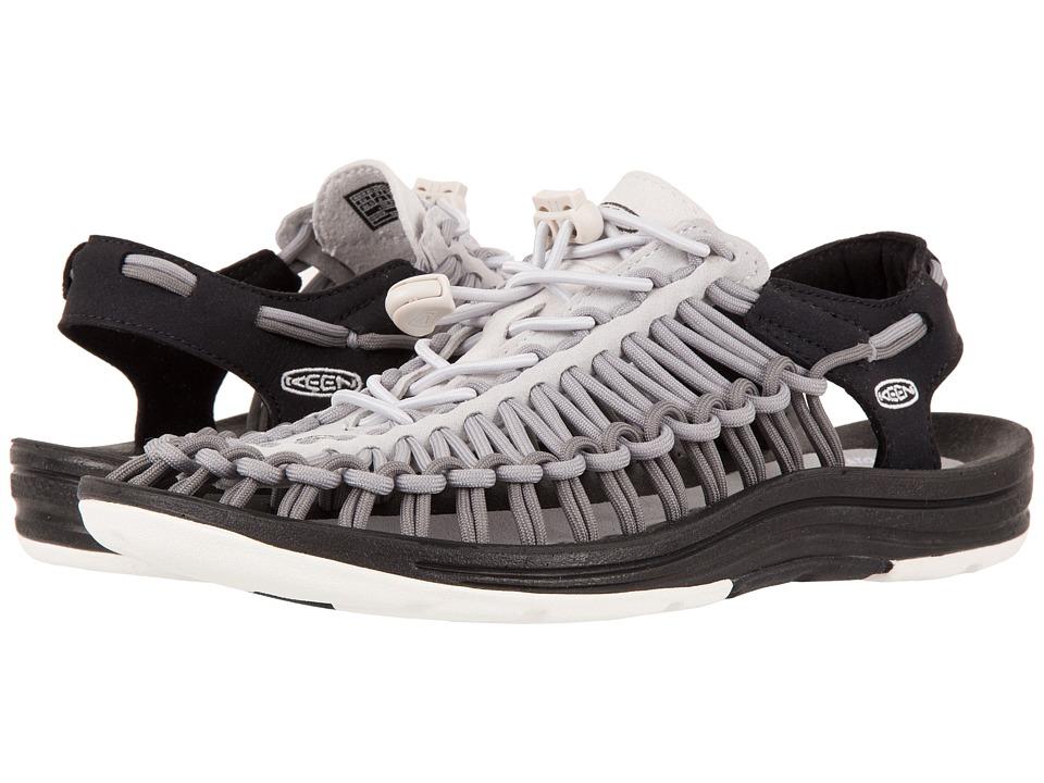 Keen - Uneek (Nimbus Cloud/Asphalt) Women's Toe Open Shoes