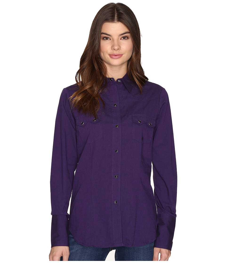 Roper - 0709 Black Fill Poplin - Purple (Purple) Women's Clothing