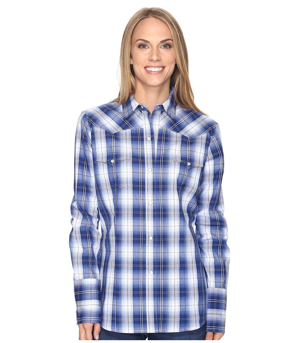 Roper - 0555 Blue River Plaid (Blue) Women's Clothing